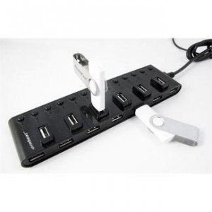 mbeat 13 Port USB 2.0 Hub with Individual Switches and Power Adapter