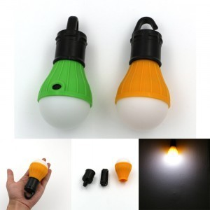 Portable outdoor Hanging 3-LED Camping Lantern,Soft Light LED Camp Lights Bulb Lamp For Camping Tent Fishing Yellow
