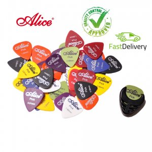 Alice Picks x 20 Assorted Thickness and Colours + Pick holder