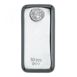 10 oz Fine Silver Perth Mint Bullion Bar