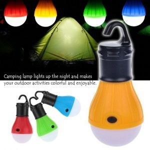 Portable outdoor Hanging 3-LED Camping Lantern,Soft Light LED Camp Lights Bulb Lamp For Camping Tent Fishing Green