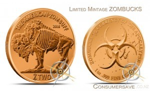 1 Ounce Copper Round Zombucks™  Zombuff Limited Mintage #3 Final Mintage: 129,986