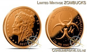 1 Ounce Copper Round Zombucks™ - Morgue Anne #2 - Final Mintage 110,602