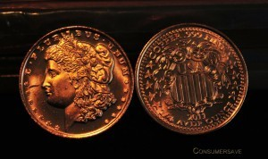 1/4 Ounce Copper Round - 2011 Morgan Head x 1