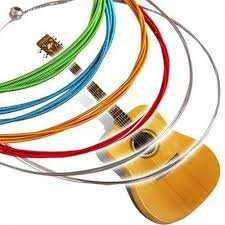 6Pcs/Set Acoustic Guitar Strings Rainbow Colorful Guitar Strings E-A