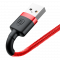 Baseus Cafule Cable Durable Nylon Braided Wire USB / Type-C USB-C 2M black-red